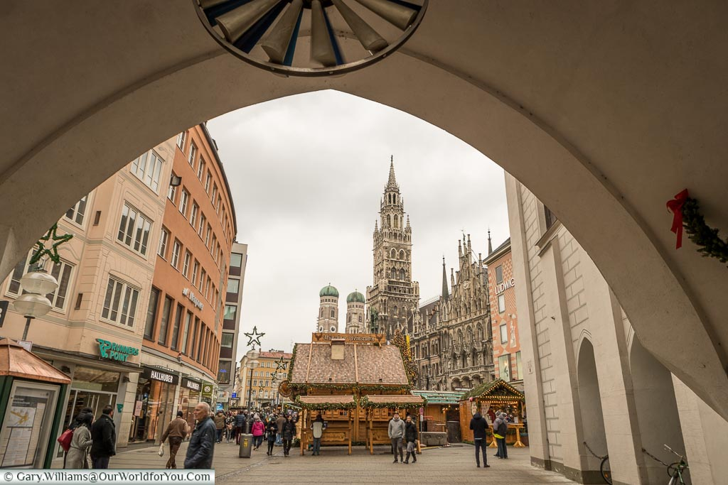 The view to Marienplatz, Munich, Germany