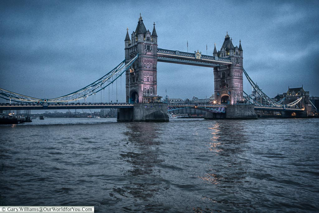 Tower Bridge, London at Christmas, UK