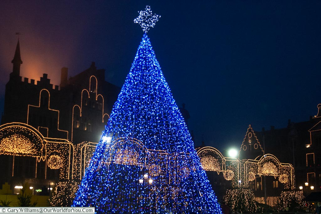 Tree of lights, Bruges, Belgium
