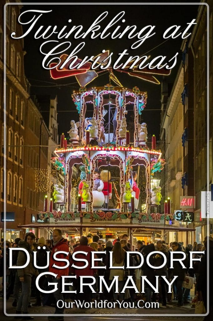 The Pin images for this post - 'Twinkling Düsseldorf at Christmas'