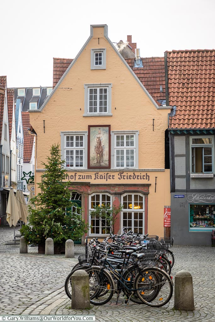 A charming restaurant in Schnoor, Bremen, German Christmas Markets, Germany