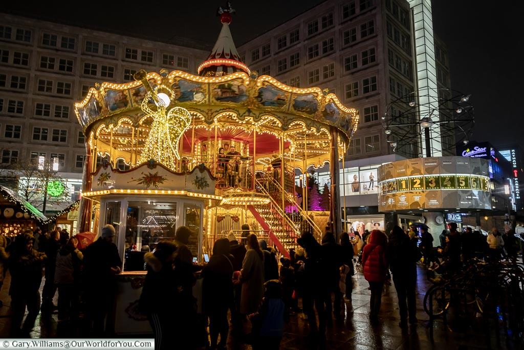 Carousel and the World Clock, Berlin German Christmas Markets