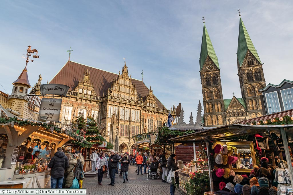 Marktplatz, Bremen, German Christmas Markets, Germany