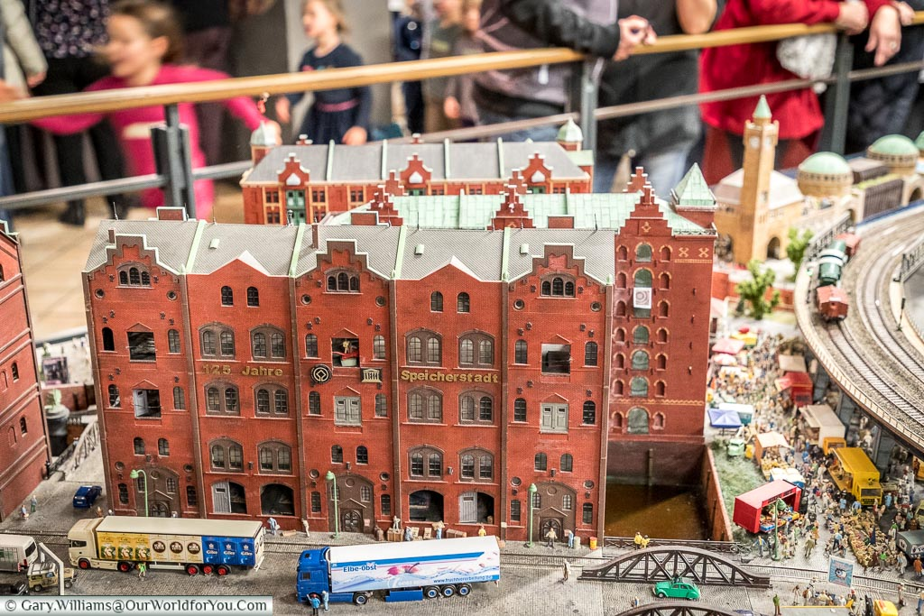 Speicherstadt in the Model Village, Hamburg German Christmas Markets, Germany