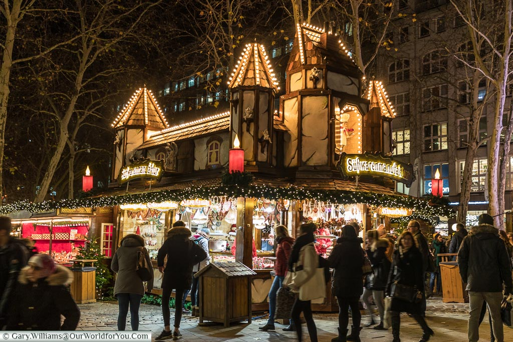 Sweet treats on the market, Hamburg German Christmas Markets, Germany