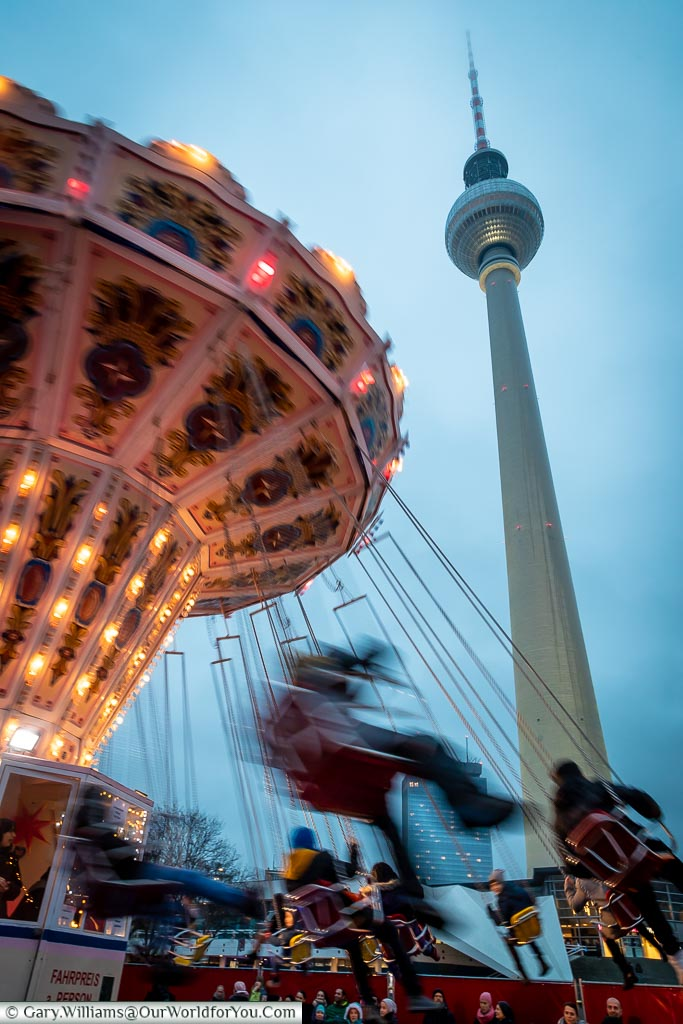 Swings with a view, Berlin German Christmas Markets