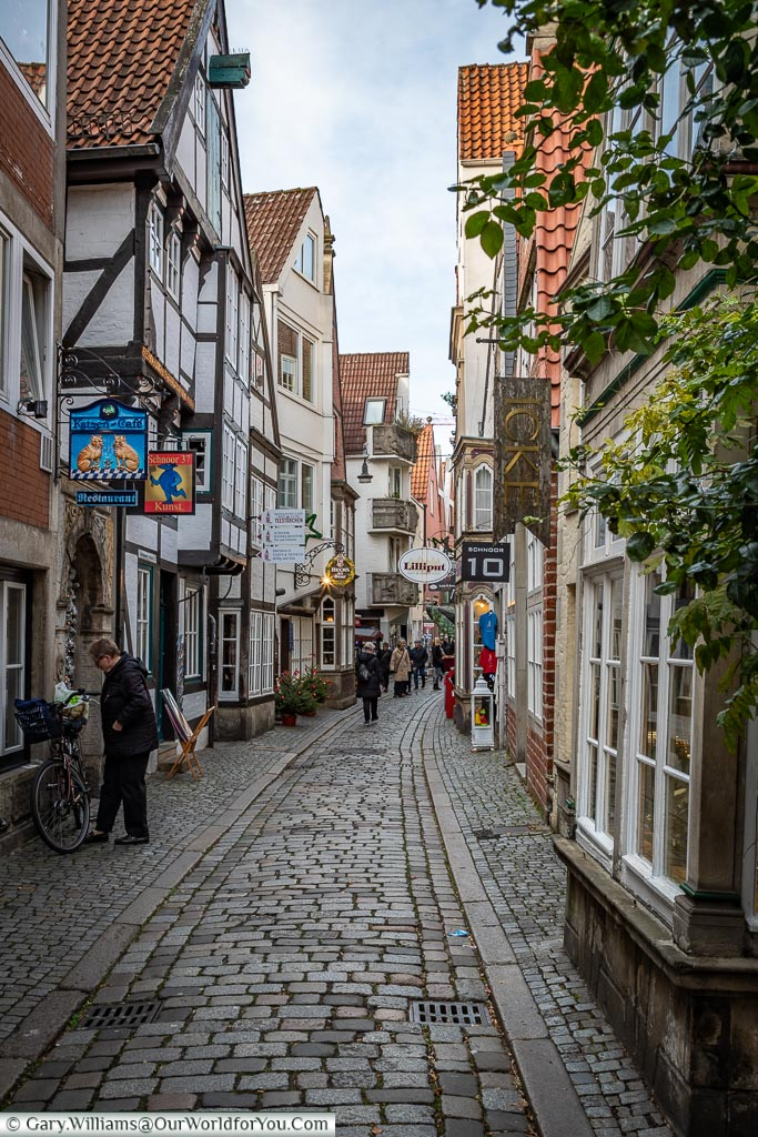 The Charming streets of Schnoor, Bremen, German Christmas Markets, Germany