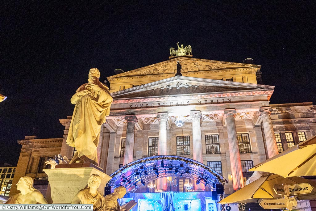 The Concert Hall from the market, Berlin German Christmas Markets