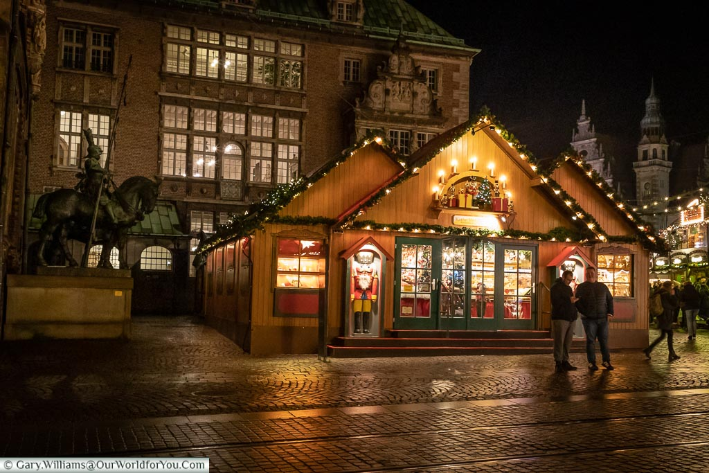 The Käthe Wohlfahrt pop-up store, Bremen, German Christmas Markets, Germany