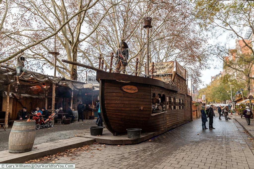 The Pirate ship, Bremen, German Christmas Markets, Germany