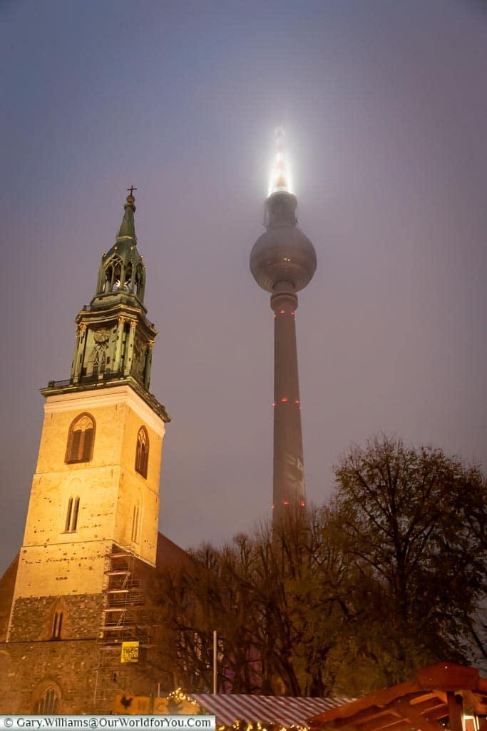 The TV Tower, Berlin German Christmas Markets