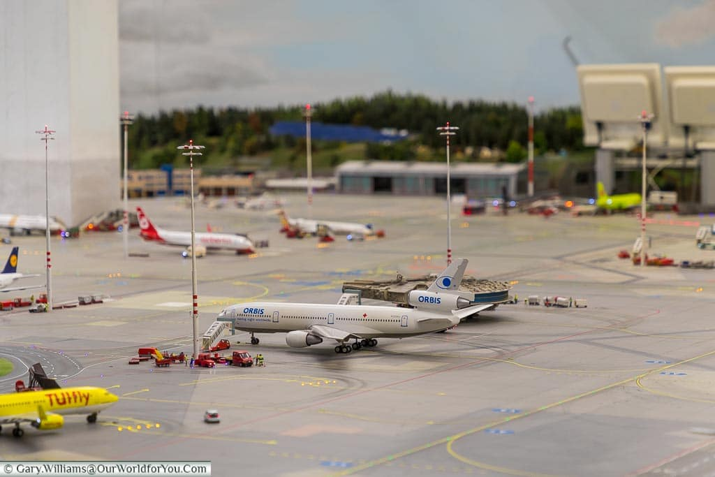 The airport in the model world, Hamburg German Christmas Markets, Germany