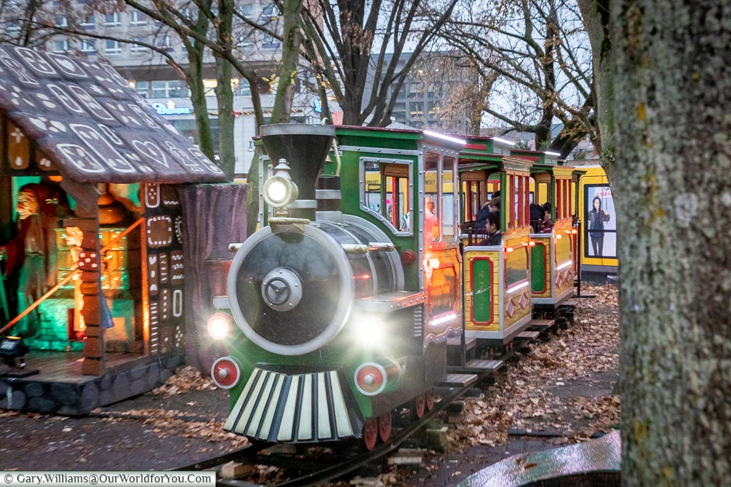 The miniature railway, Berlin German Christmas Markets