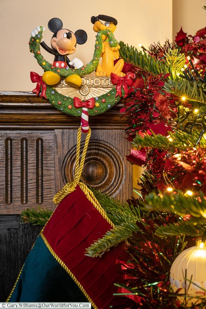 The Disney stocking holders