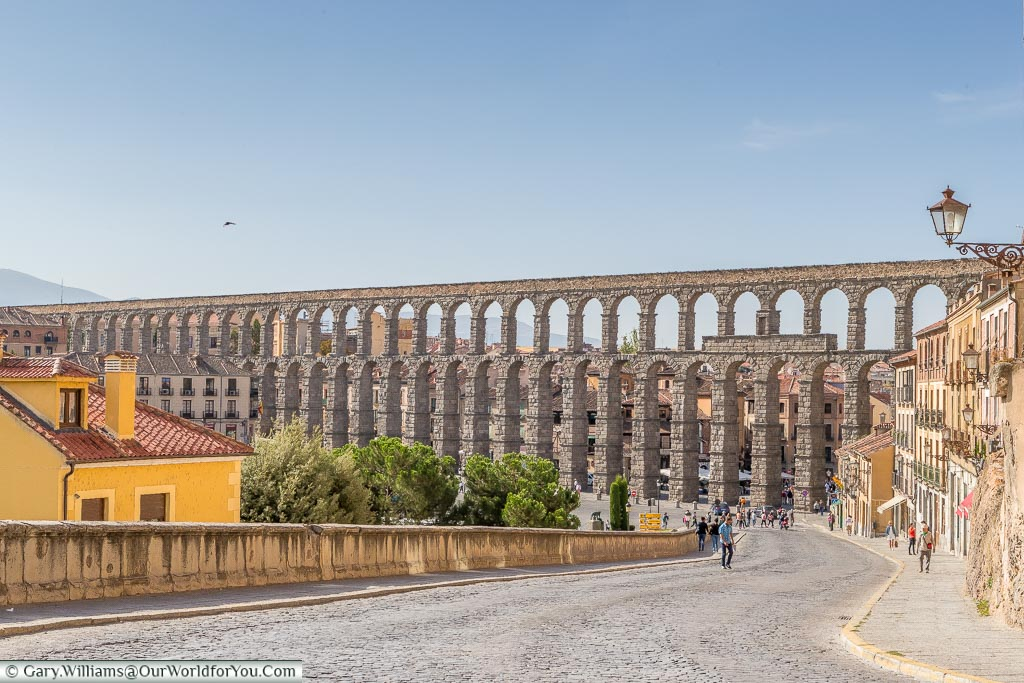 The aqueduct in Segovia, Spain