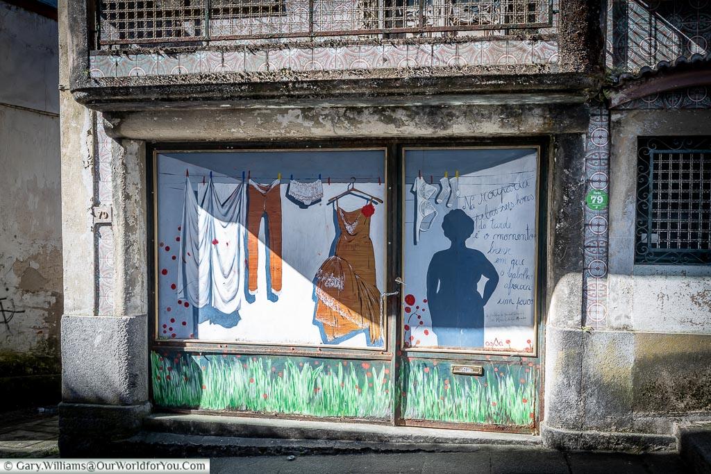 Amarante shop front, Amarante, Portugal