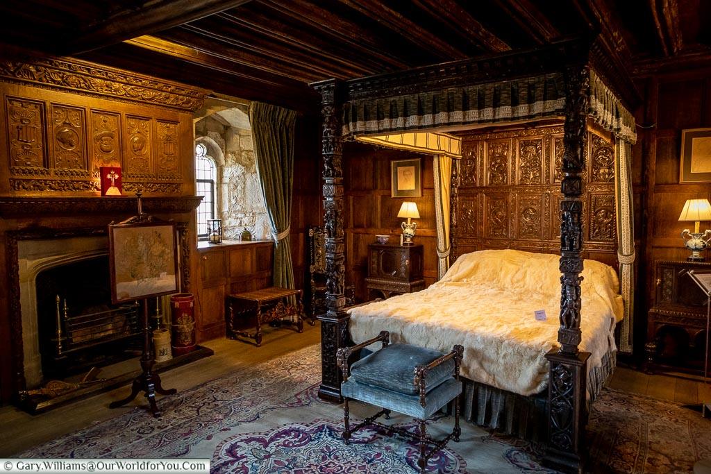 Henry VIII's Bedchamber, Hever Castle, Kent, England