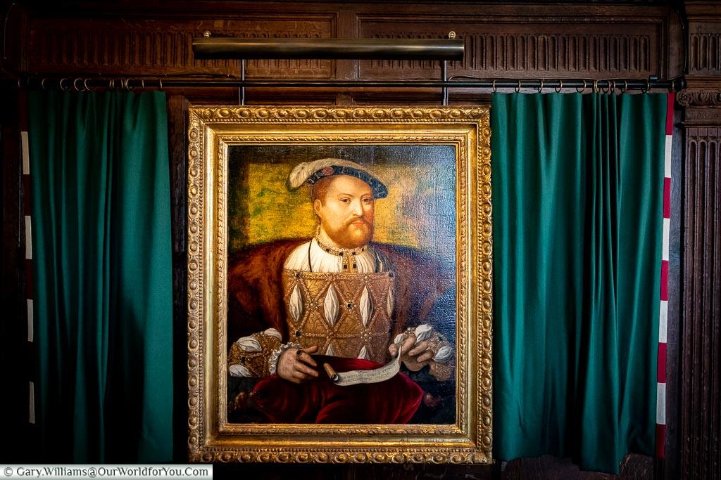 Henry VIII's portrait, Hever Castle, Kent, England