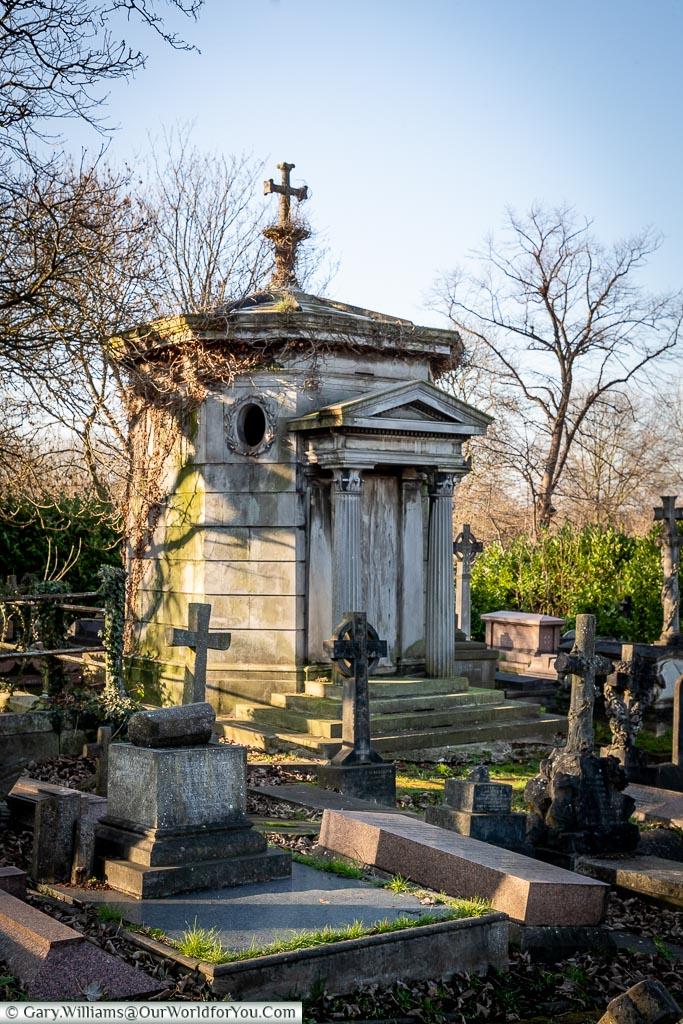 Panayis Athanase Vagliano's mausoleum, West Norwood Cemetery, London