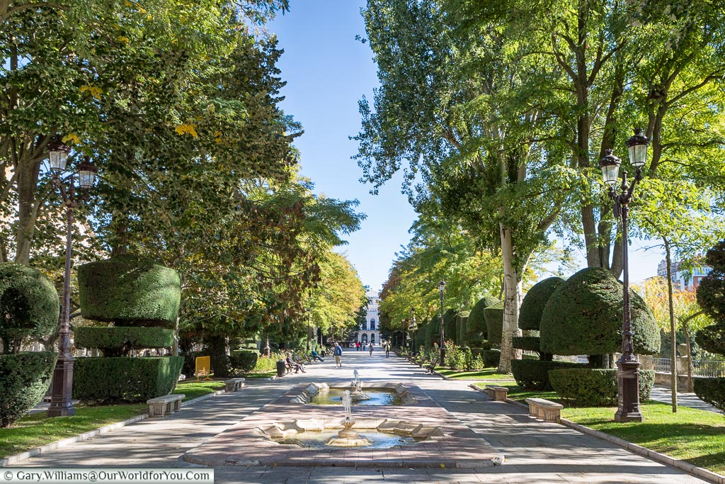 Paseo del Espolón, Burgos, Spain
