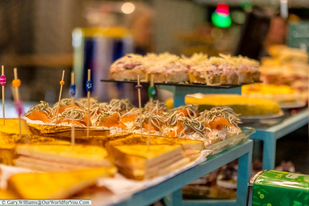 Pintxos at the Mercado, Bilbao, Spain