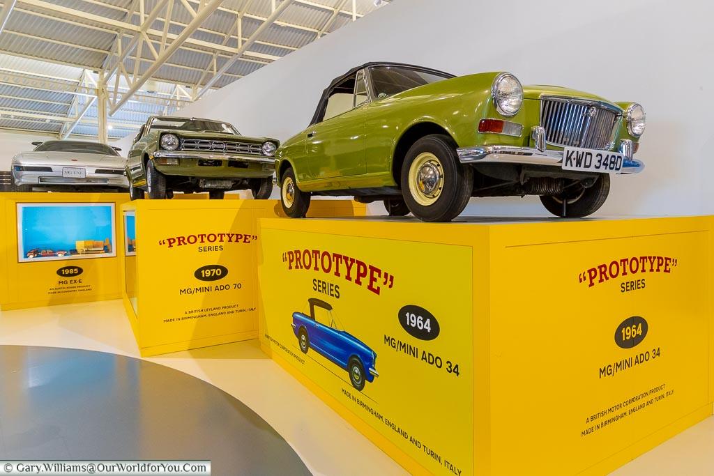 Prototypes, British Motor Museum, Warwickshire, England, UK
