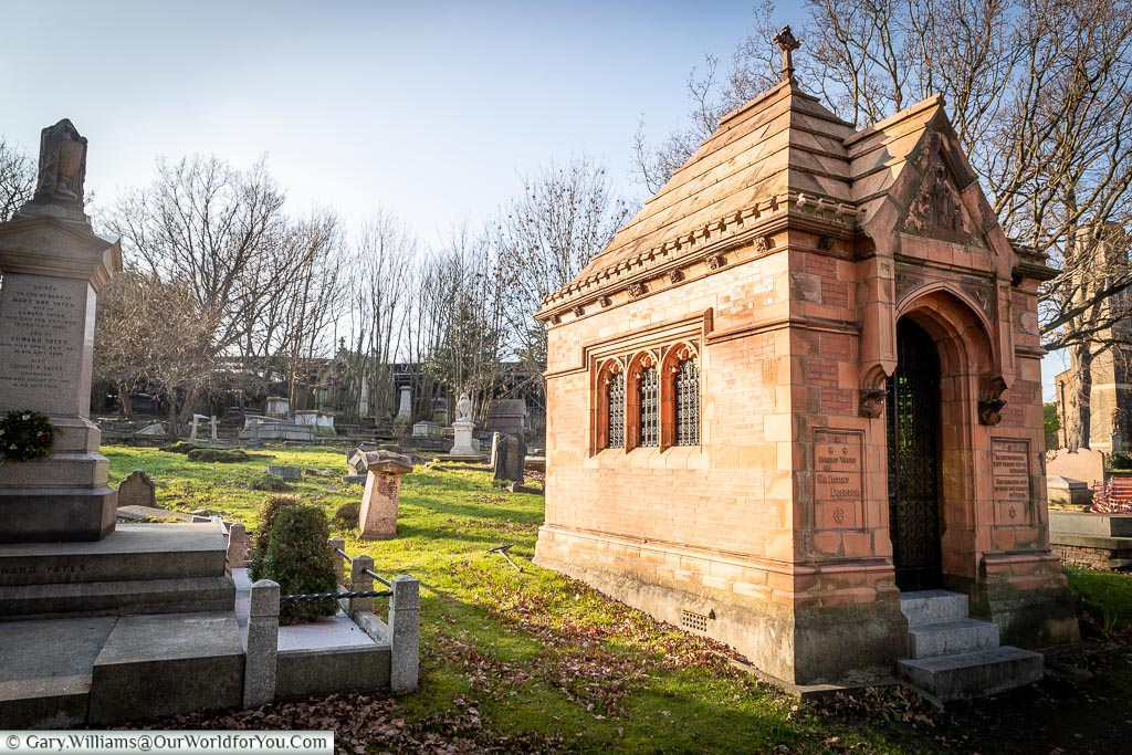 Sir Henry Doulton's mausoleum, West Norwood Cemetery, London
