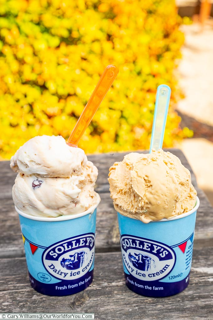 Solley's ice-cream, Hever Castle, Kent, England