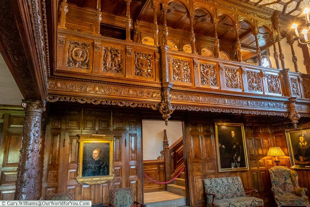 The Inner Hall, Hever Castle, Kent, England