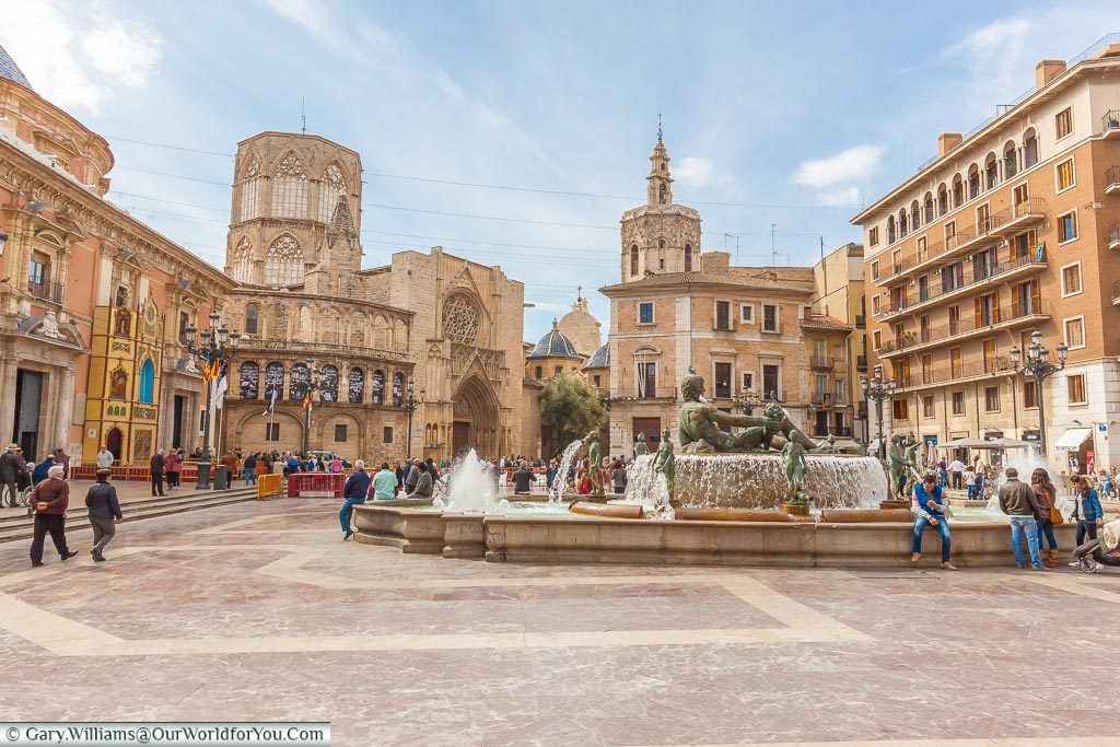 The Plaza de la Virgen, Valencia, Spain