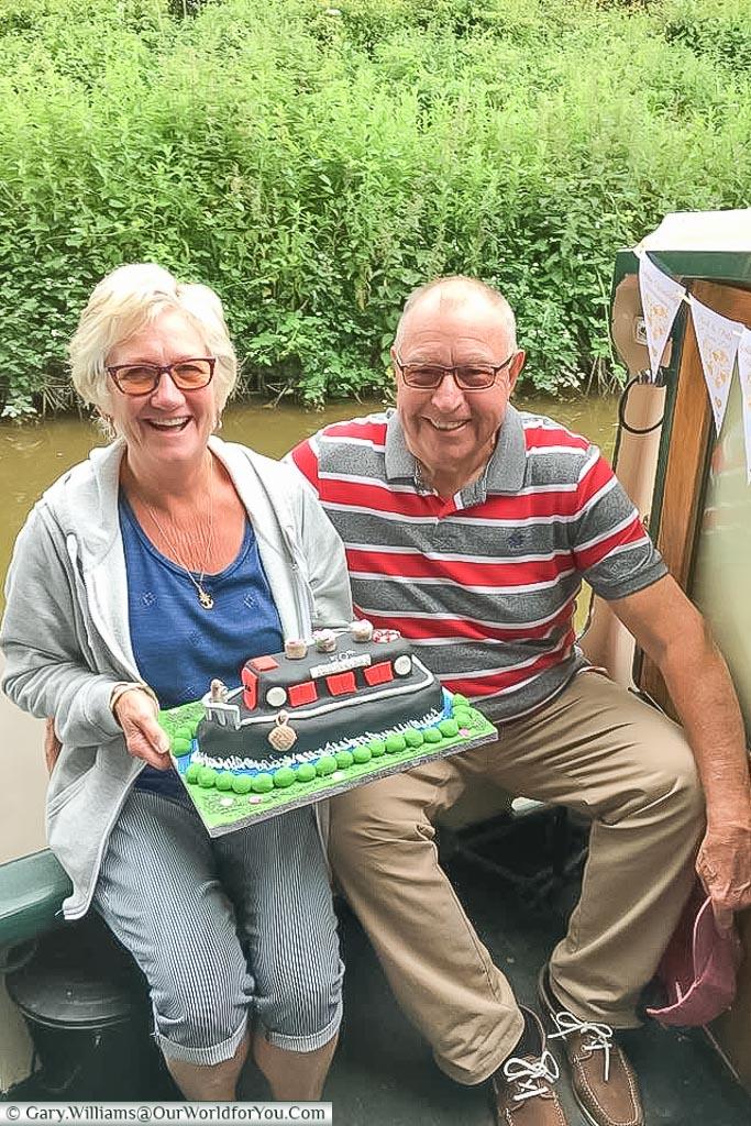 The anniversary cake on Moonbeam, England, United Kingdom