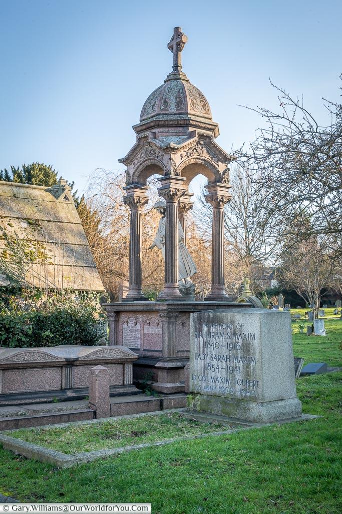 The grave of Sir Hiram Maxim, London, England