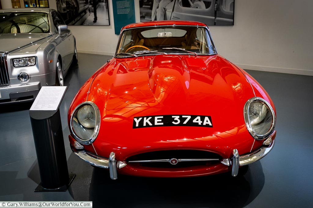 The iconic E-Type Jaguar, British Motor Museum, Warwickshire, England, UK