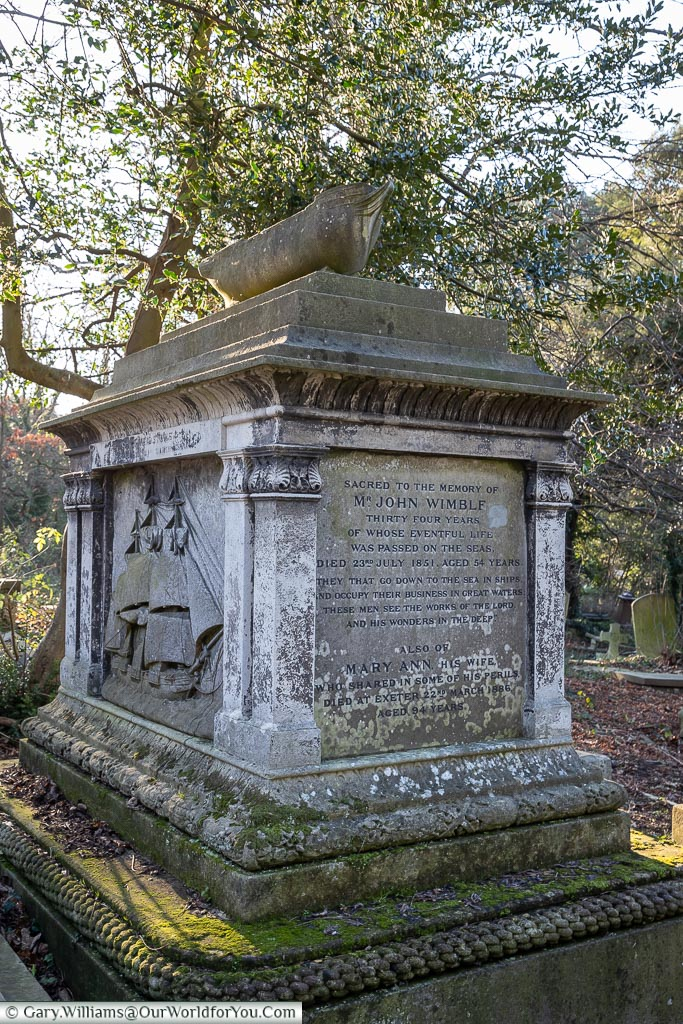 The tomb of John Wimble, West Norwood Cemetery, London