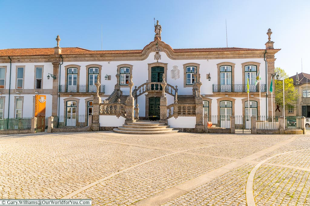 The town hall of Vila Real, Portugal