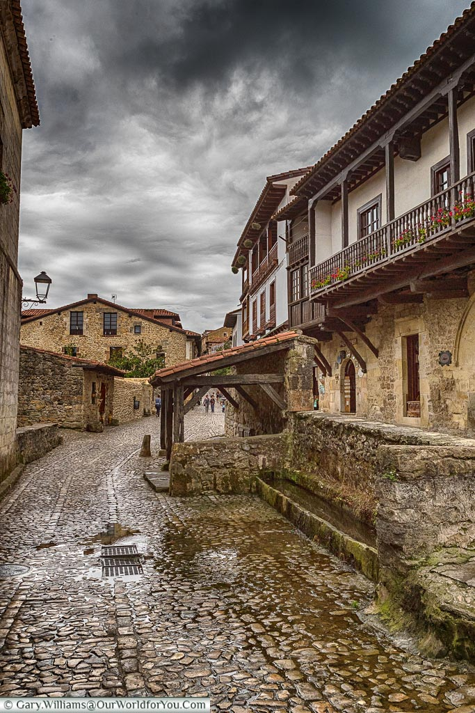 The watering hole, Santillana del Mar, Cantabria, Spain