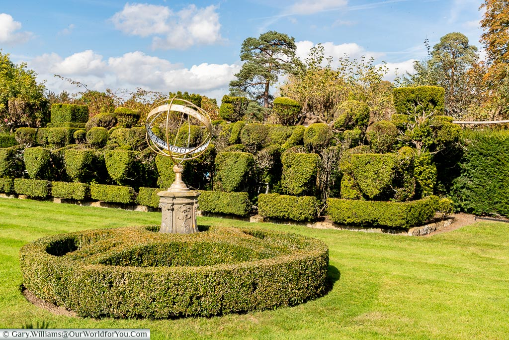 Topiary Chess set, Hever Castle, Kent, England