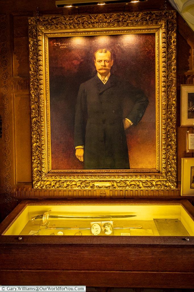 William Waldorf Astor Portrait, Hever Castle, Kent, England