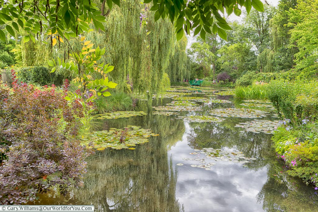 A bridge in the distance, Giverny, Normandy, France