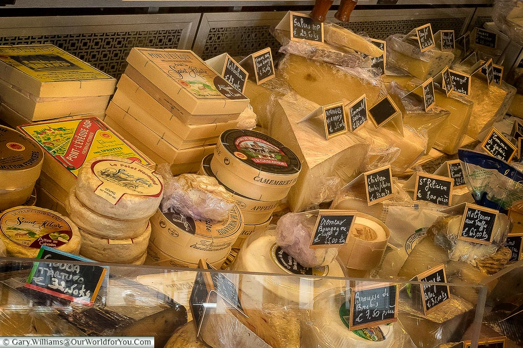 A fine cheese selection, Normandy, France