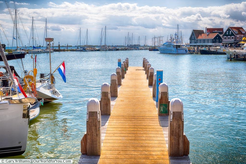 A jetty in Volendam harbour, Holland, Netherlands