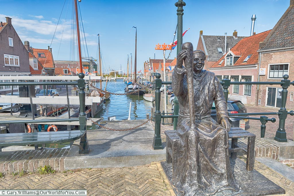 A statue to the monks at Monnickendam, Holland, Netherlands
