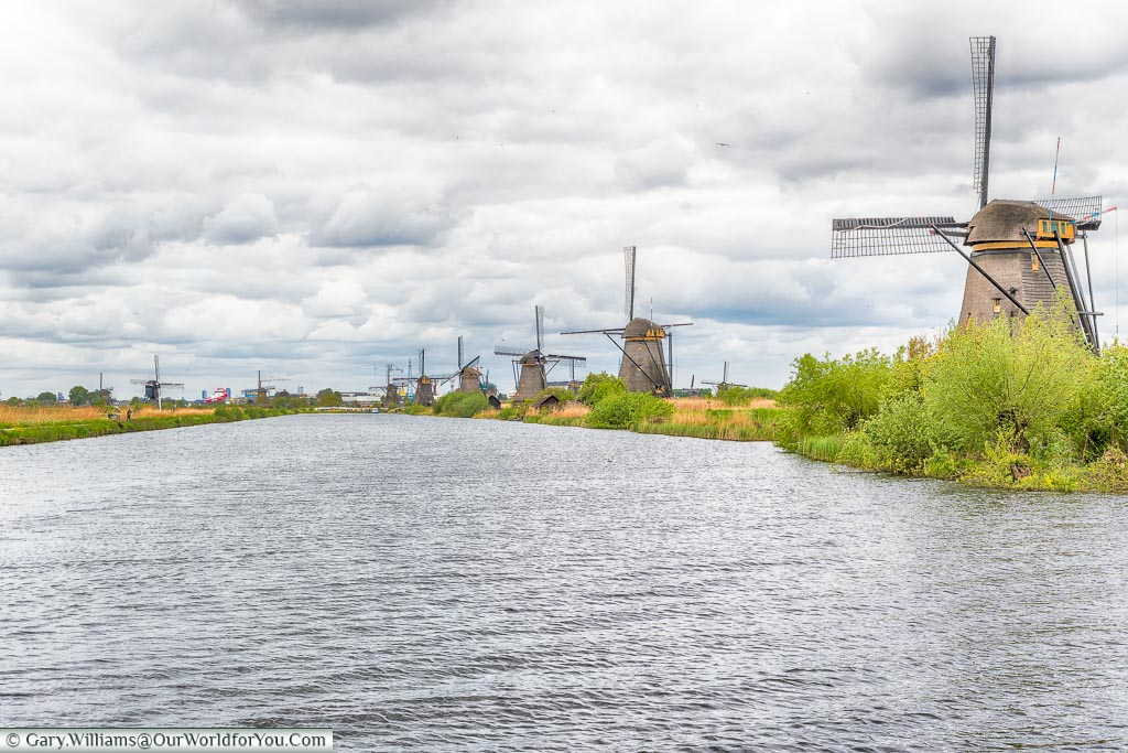 A view of the windmills at Kinderdijk, Holland, Netherlands