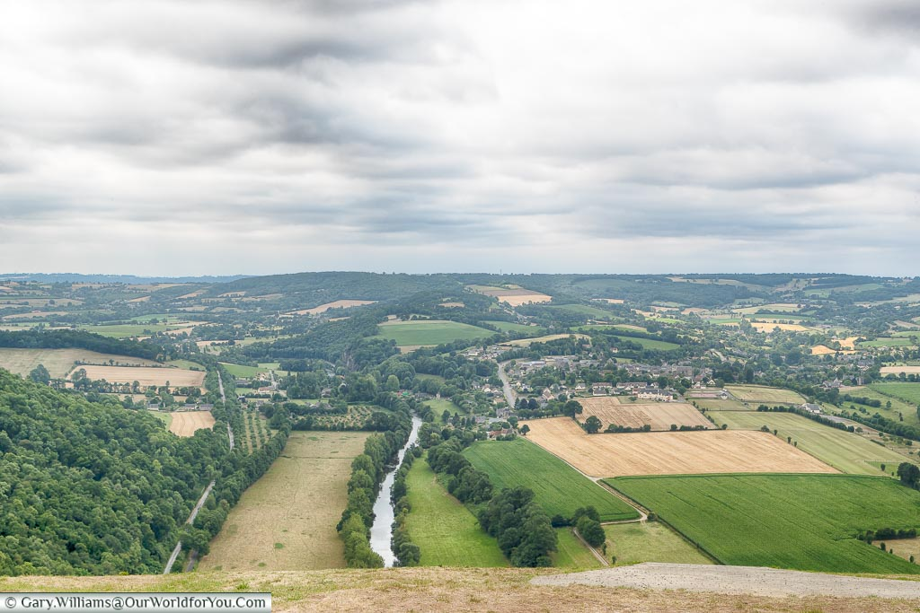 A view over the route Suisse-Normande, Normandy, France