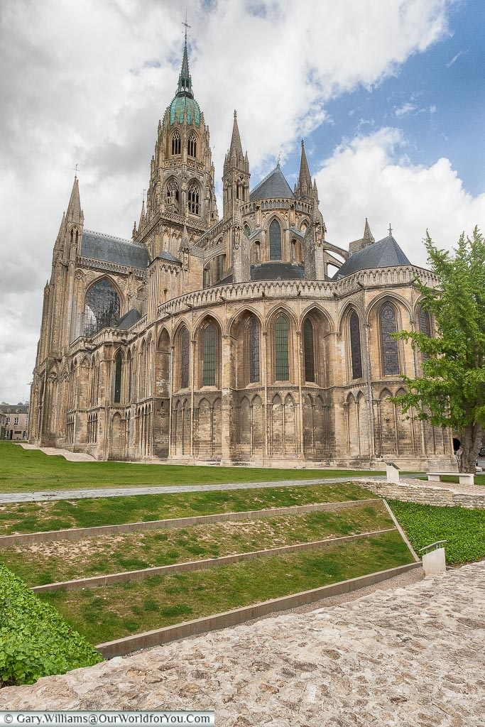The historic 13th-century Gothic cathedral of Bayeux