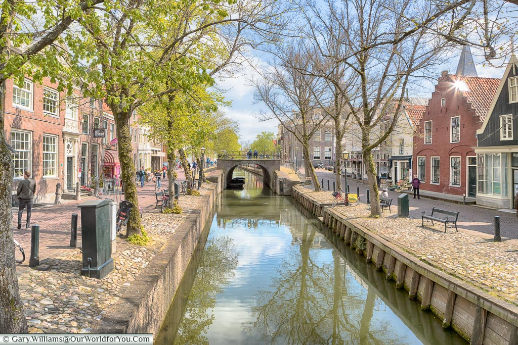 Canal through the centre of Edam, Holland, Netherlands