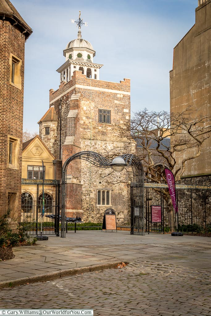 The view from Charterhouse Square, Clerkenwell, London, England, UK