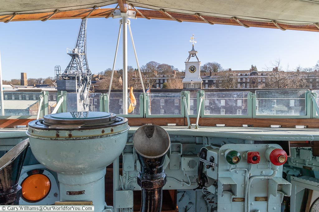 From the Bridge, Historic Chatham Dockyard, Kent, England, UK