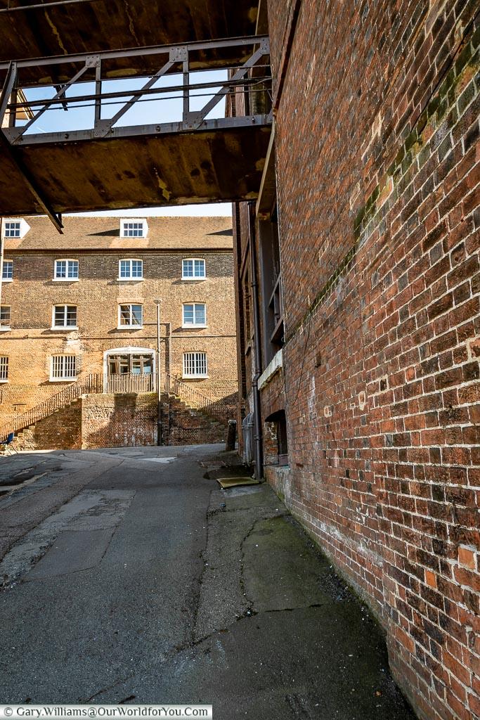 Historic Lanes, Historic Chatham Dockyard, Kent, England, UK