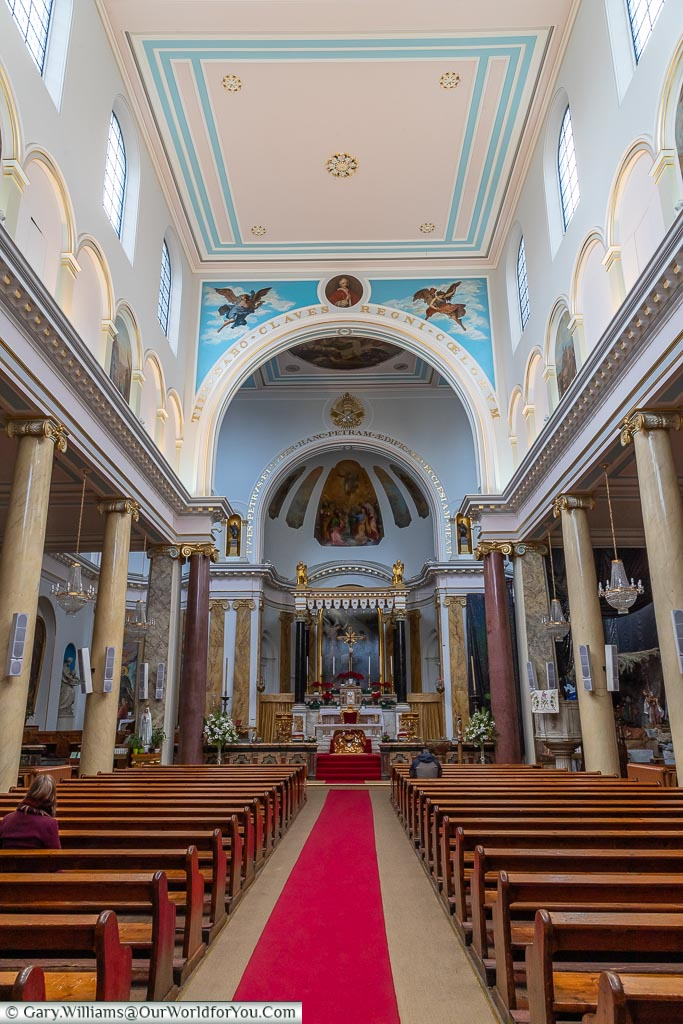 Inside St. Peter's Italian Church, Clerkenwell, London, England, UK